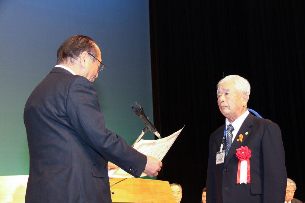 岡山市民生委員児童委員協議会会長特別表彰代表受賞