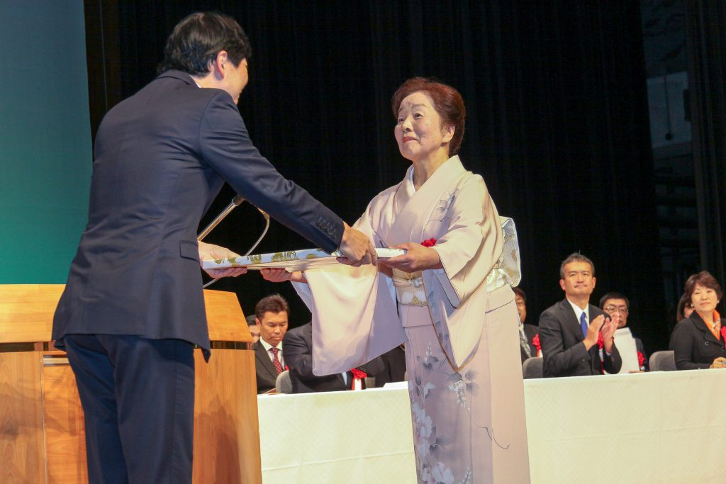 県知事感謝状代表受賞